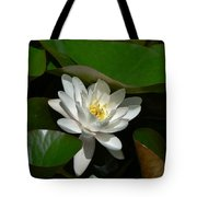 White Waterlily Lotus Tote Bag