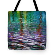 White Waves And Ripple Tote Bag