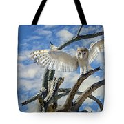 White Wide Wings Tote Bag