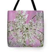 White Wild Cow Parsnip Flower Tote Bag