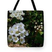 White Wildflowers Tote Bag