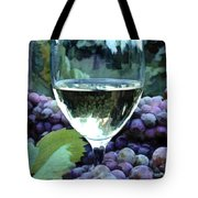 White Wine Reflections Tote Bag