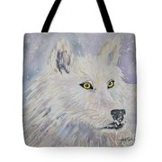 White Wolf Of The North Winds Tote Bag