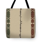 White Written In Ogham Tote Bag