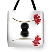 White Zen Gerbera Tote Bag