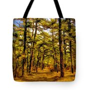 Whitebog Village Woods In New Jersey  Tote Bag