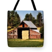 Whitefish Barn Tote Bag by Marty Koch