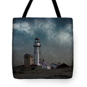 Whitefish Point Lighthouse Lake Superior Tote Bag