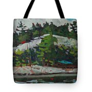 Whitefish River Cottages Tote Bag