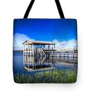 Whites And Blues Tote Bag