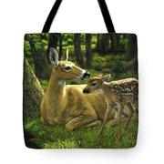 Whitetail Deer - First Spring Tote Bag