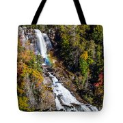 Whitewater Falls With Rainbow Tote Bag