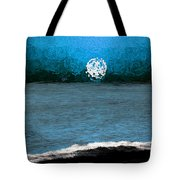 Whitewater In The Moonlight Tote Bag
