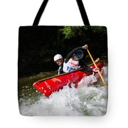 Whitewater Open Canoe Race Tote Bag