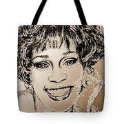 Whitney Houston In 1992 Tote Bag