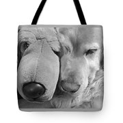 Who Has The Biggest Nose Golden Retriever Dog  Tote Bag
