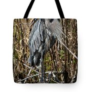 Who Is There - Great Blue Heron Tote Bag