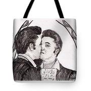 Elvis Who Loves Ya Baby? Tote Bag