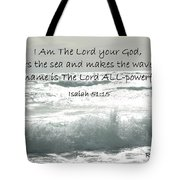 Who Stirs The Sea Tote Bag