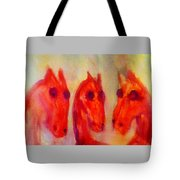 Looking At Each Other And Don't Know Who To Trust  Tote Bag