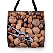 Whole Nuts In A Basket Tote Bag