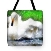 Whooper Swan Flutter Tote Bag