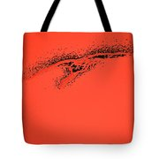 Whooper Swan Red Abstract Tote Bag
