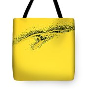 Whooper Swan Yellow Abstract Tote Bag