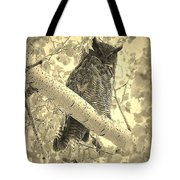 Who's Watching - Sepia Tote Bag