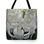 Whte Hyacinth Tote Bag