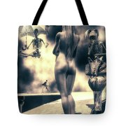 Why Follow The Yellow Brick Road - Penny-farthing Tote Bag