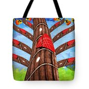 Why Pick On Me Guitar Abstract Tree Tote Bag