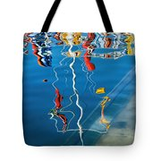 Wibbly Wobbly Flagpole Reflections Tote Bag