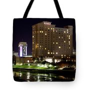 Wichita Hyatt Along The Arkansas River Tote Bag
