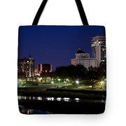 Wichita Skyline At Dusk Tote Bag