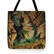 Wicked Witch Casting Spell Tote Bag