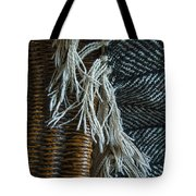 Wicker And Wool Tote Bag
