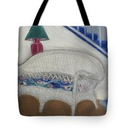 Wicker Couch Tote Bag