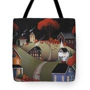 Wickford Village Halloween Ll Tote Bag