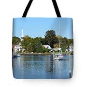 Wickford Village Waterfront Tote Bag