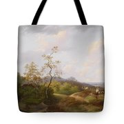 Wide Landscape With Shepherds Tote Bag