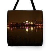 Wide Shot Of The City Skyline Tote Bag