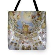 Wieskirche Organ And Ceiling Tote Bag