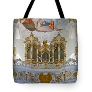 Wieskirche Pipe Organ Tote Bag