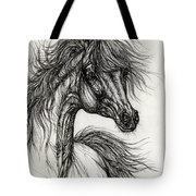Wieza Wiatrow Polish Arabian Mare Drawing Tote Bag