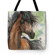 Wieza Wiatrow Polish Arabian Mare Watercolor Painting  Tote Bag