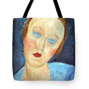 Wife Of The Painter Survage Tote Bag by Amedeo Modigliani