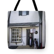 Wigmaker And Barber Shop Williamsburg Virginia Tote Bag