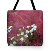 Wild Asters And Muhly Grass Tote Bag