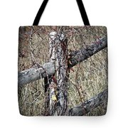 Wild Berries On Fence Tote Bag